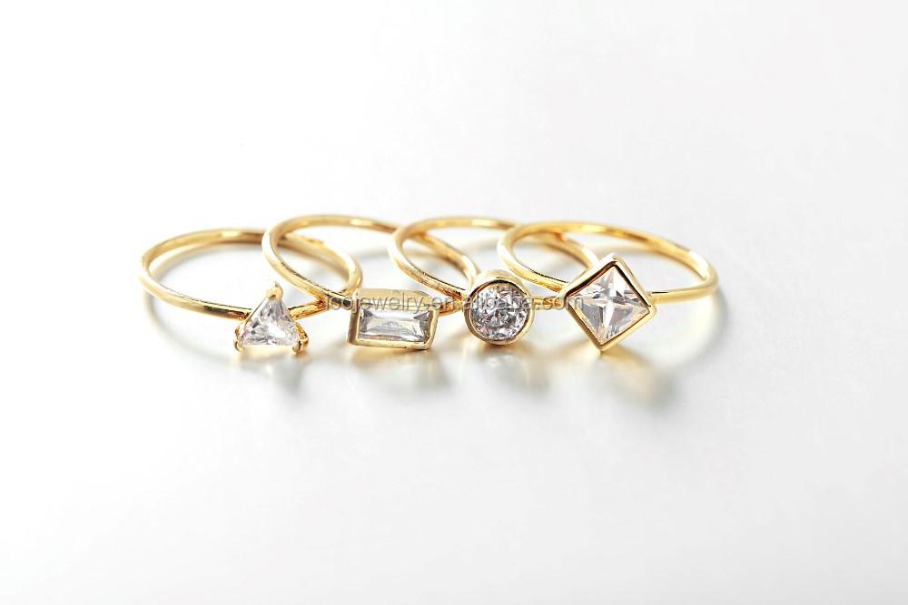 Cheap Finger Ring Girl Jewelry Wholesale Bezel Setting Zircon Ring ...