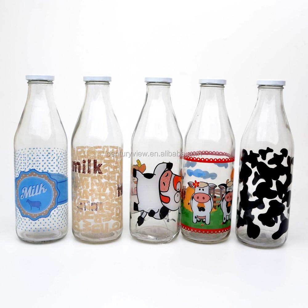 1 Liter Großhandel Getränke Glas Saft Flaschen Mit Schaukel Clip Top ...