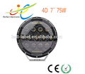 High Quality Auto Spare Parts 75W 7 inch Round LED headlight for Jeep Wrangler From China