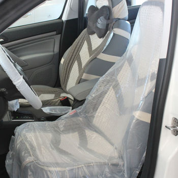 100 Polythene Economy Waterproof Car Seat CoversRoll Of 250 Clear White Disposable Plastic