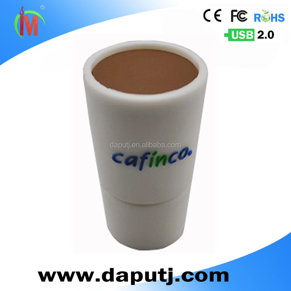 Hot sell usb flash drive 2.0 usb pen drive hot sell stick coffee cup usb pen drive
