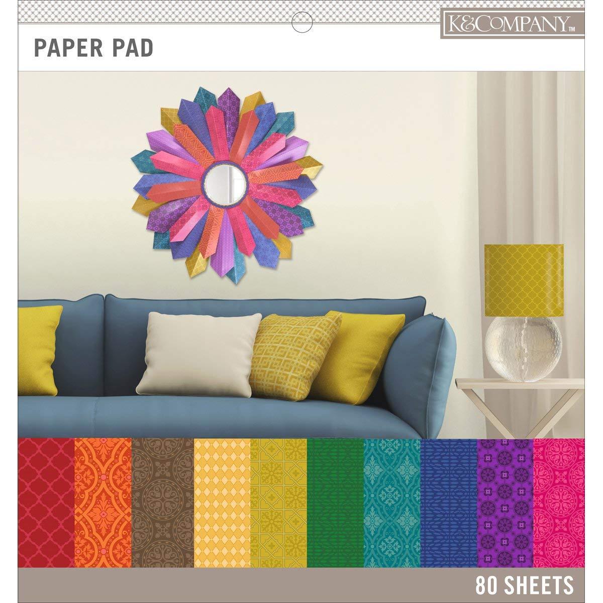 "K&Company Basics 12""X12"" Paper Pad 80/Pkg-Darks, 20 Designs/4 Each"