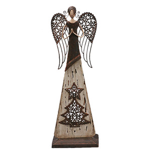 Elegant Metal Christmas LED Light Angel