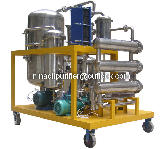 High efficient Vacuum Machinery Cooking Oil Filter,Machine Oil Purifier
