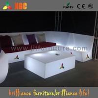 led patio furniture/illuminated led sofa/outdoor sofa set