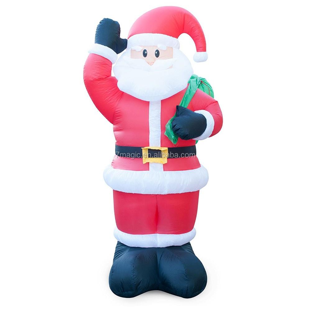 Holidayana animated waving santa inflatable christmas lawn