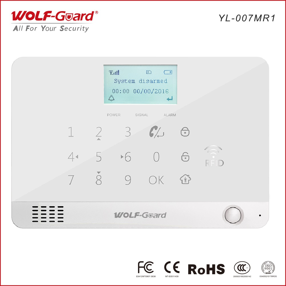 Smart GSM/3G WiFi GPRS SMS Alarm System with Contact ID/SIA for CMS & Fingerprint Door Lock WiFi GSM Alarm System
