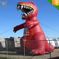 Strong material inflatable dinosaur model ,large T red dragon balloon party/event/park show decor