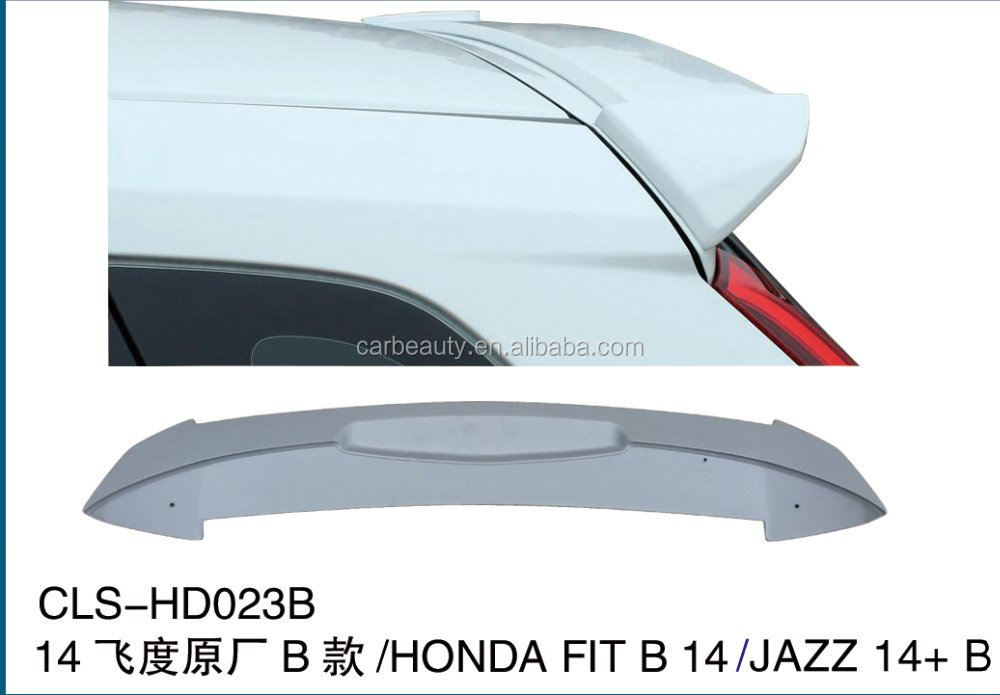 HD023B ABS car rear wing spoiler for HONDA fit 2014