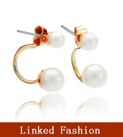 fashion design flower earring, rhinestone stud earring, pearl earring