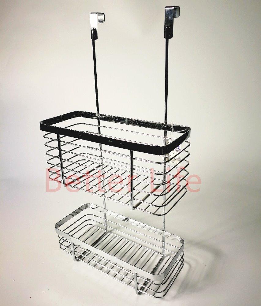 2 Tier Over The Cabinet Door Organizer Basketchromed Plated Buy