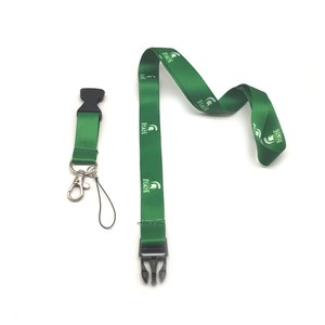 Promotional Green Custom heat transfer polyester lanyard for university