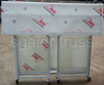 Mobile Folding Portable Bar Table With Wheels For Club