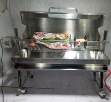 Outside Usage Kitchen Equipment Stainless Steel 2 Burners Gas BBQ Grill