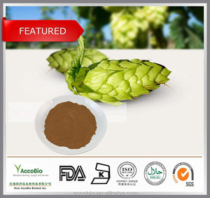 100% Natural Beer Hops Extract / Hops Flower Extract Powder, 4%, 8% flavone, Xanthohumol 5%