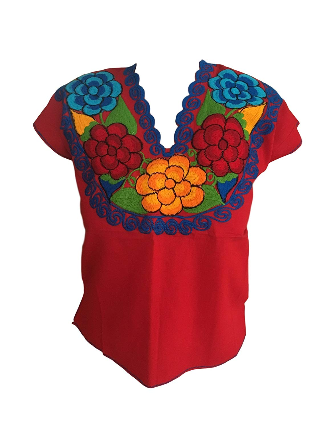Buy Casa Fiesta Designs Floral Mexican Blouse Authentic