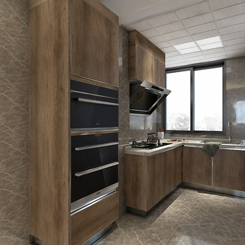 Xiamen Kitchen Cabinetry Supplier Frameless Kitchen Unit Melamine Door for Project