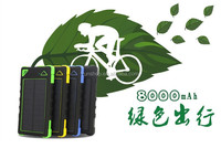 Universal 2 USB 8000MAh Solar Power Bank Panel Charger Waterproof Solar Mobile Charger for Cell Phone