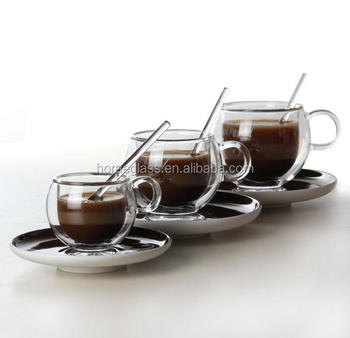 Clear Glass Coffee Mug With Lid And Handle Wholesaledouble Wall