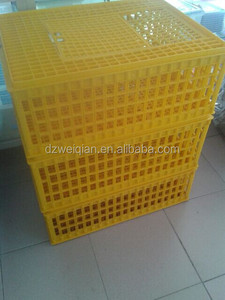 Plastic chicken transport coops/cage