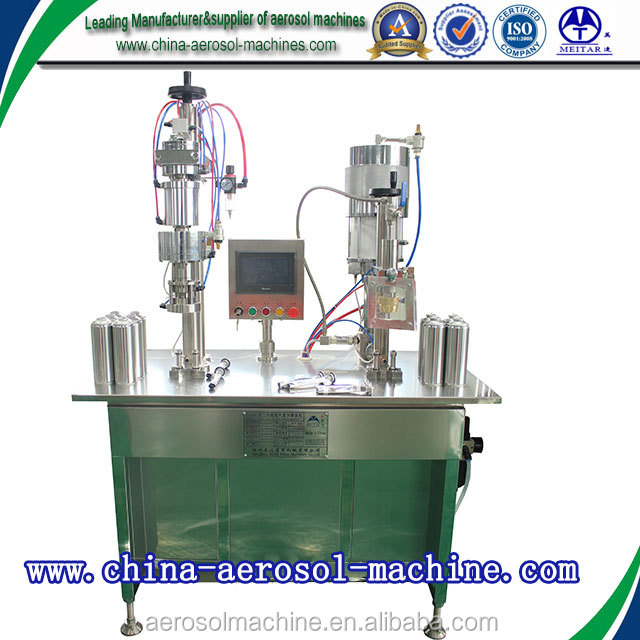 semi automatic bov aerosol filling machines for food aerosol products