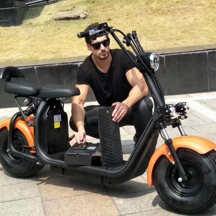 Scooter Eléctrico citycoco 1500 w/2000 w, motocicleta eléctrica para adultos con CE city coco scooter