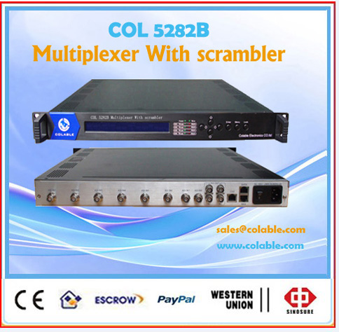 COL5282B cable tv multiplexer,dvb multiplexer ip output,video scrambler multiplexer