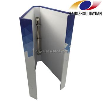 2 ring binder printing metal clamp folder portfolio a4 magnet binder