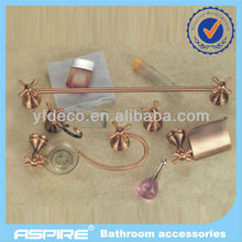 Bathroom round wall mounted bathroom accessories manufacture with bronze finished