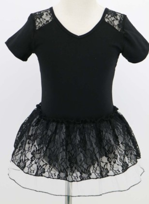 JW00024 Cheap Black Lace Cute Stage Dance Ballet Tulle Wear