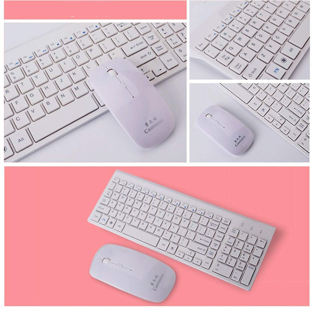 4e819ef5756 Get Quotations · Exing Ultra-Thin Mini Silent Wireless Keyboard Mouse Set  2.4G Wireless Mouse Keyboard Set