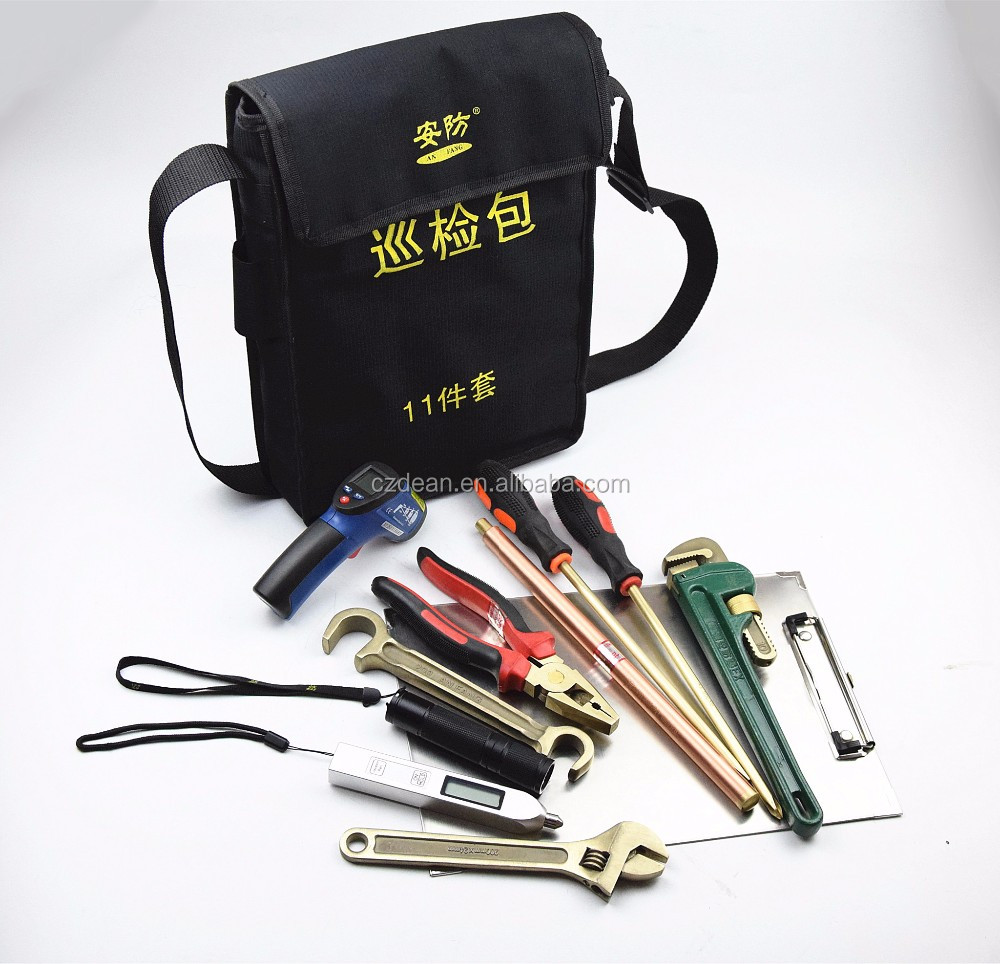 2016 popular non sparking tools kit 11pcs from China made by aluminum bronze