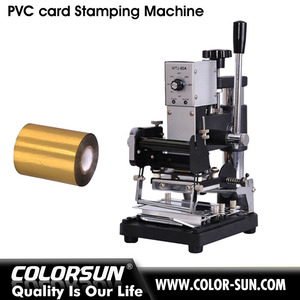 Newest manual gilding printing machine for PVC card