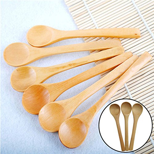6Pcs Hot Bamboo Utensil set Kitchen Wooden Cooking Tools Spoon bamboo for Kids Baby bamboo spoon set 7