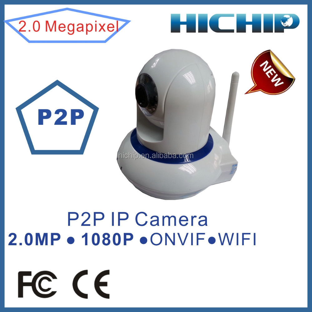 P2P easy to install 2MP Wifi Wireless IP Camera 1080P support Remote control PTZ