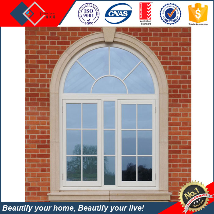 Special design aluminum arched windows