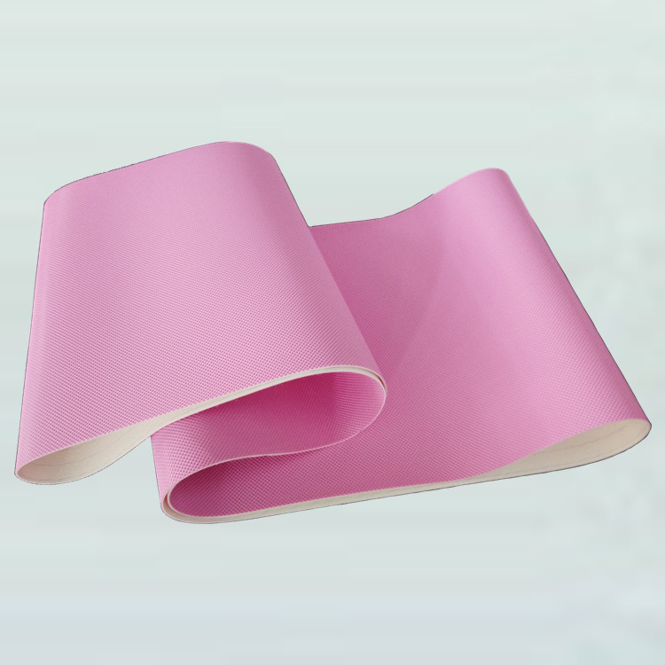 Pink Conveyor Belt Wholesales Used PVC PU SILICON Conveying Belt