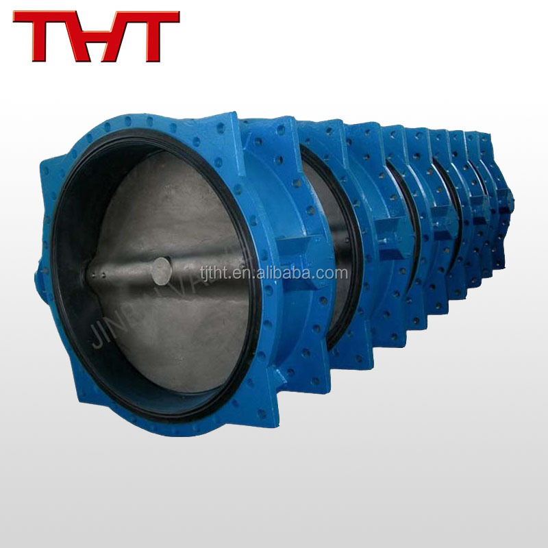 Concentric flange butterfly valve made