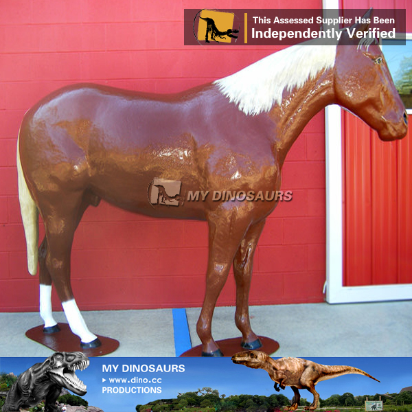 MY Dino-Z572 Customized hand drawing fiberglass horse model