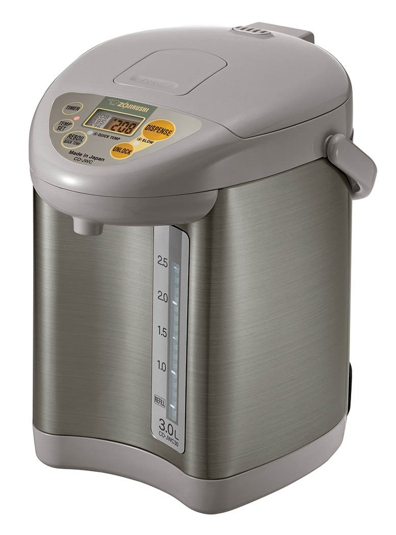 Zojirushi CD-JWC30HS Micom Water Boiler & Warmer, Silver Gray