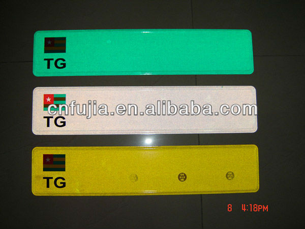 manufacturer of europe reflective license plate, customized license plate