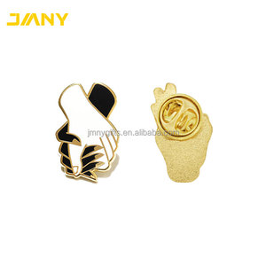 Factory Direct Sale Die Struck Metal Hold Tight Enamel Hand Shape Lapel Pin