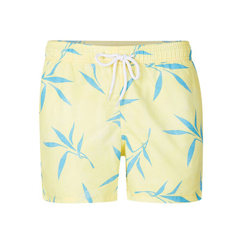 9f5d7f54ca 2017 Summer Surf Shorts Men Yellow And Blue Floral Print Swim Shorts For  Mens