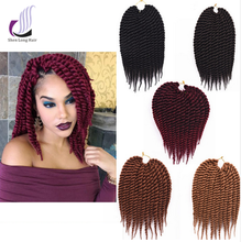 Non Remy Synthetic Hair Bulk Havana Mambo Twist Crochet Braids