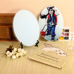 Rubysub BL-40 Factory Directly 230*160*5 MM Sublimation Round Clock Glass Blank Sublimation Curved Glass Photo Frame
