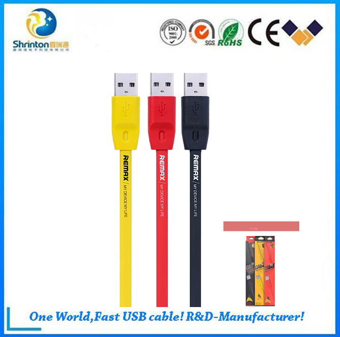 Remax Brand fast sync data cable, USB cable for connecting and charging specified devices