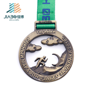 Customized die casting running sports awards cut lout logos 3d metal medals stand