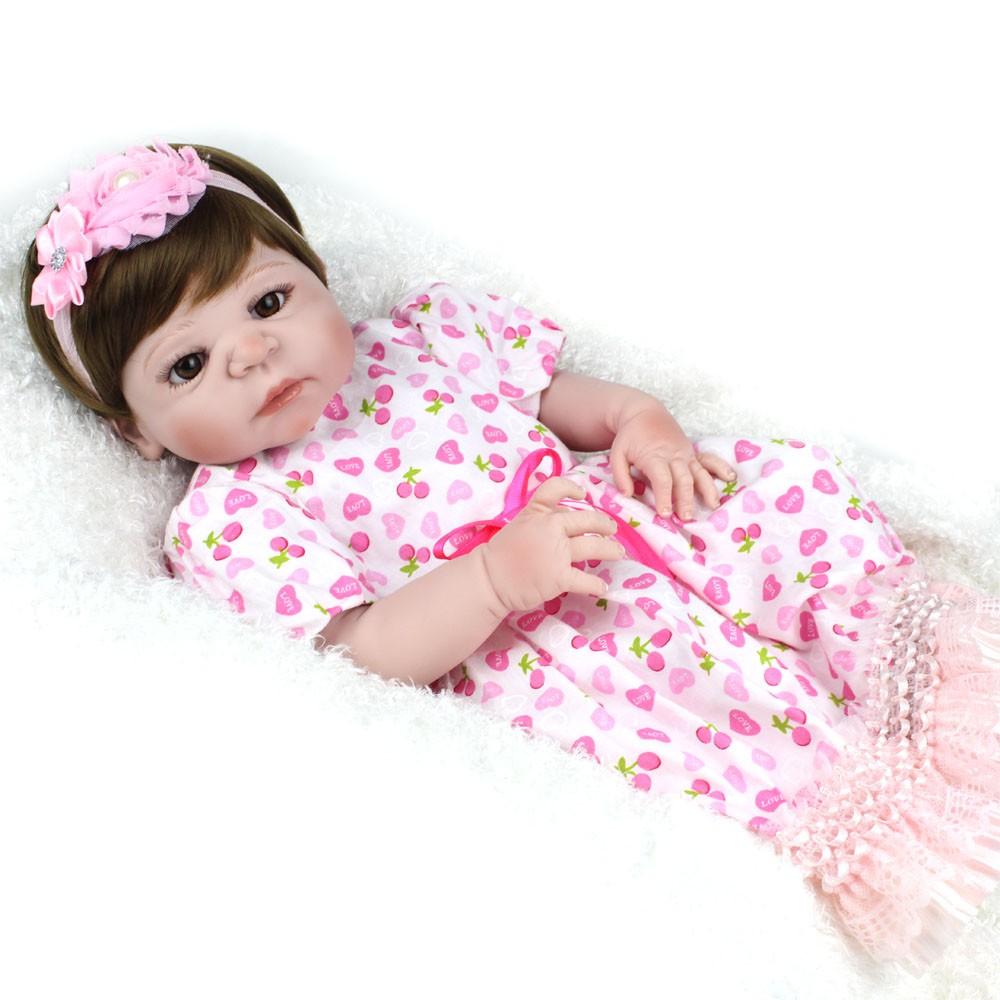Wholesale Full Body Silicone Baby For Sale 22inch Reborn