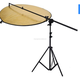 Photography extendable photo studio light reflector holder with rubber hand grip boom arm stand kit