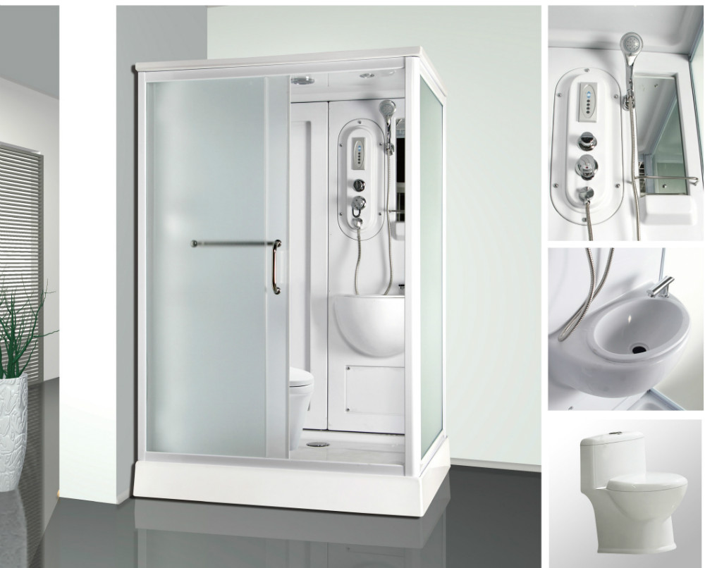 Portable Shower Toilet Combo : Combo function rectangle portable shower and toilet cabin